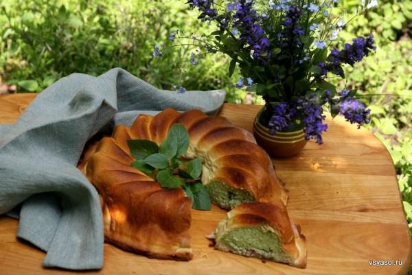 Торт из домашней рикотты с зеленью