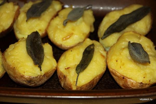 Запеченный картофель к мясу