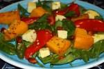 Теплый салт из запеченных перцев и тыквы
