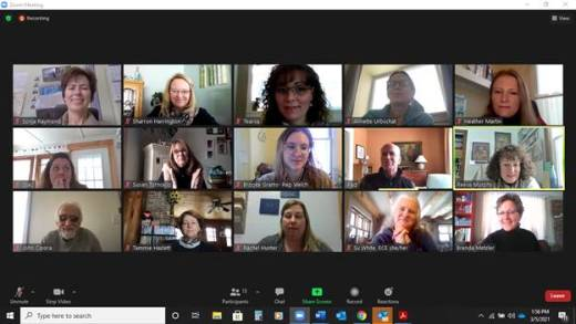Screenshot of VTAEYC's PPF 2021 meeting with Rep. Peter Welch and staff.