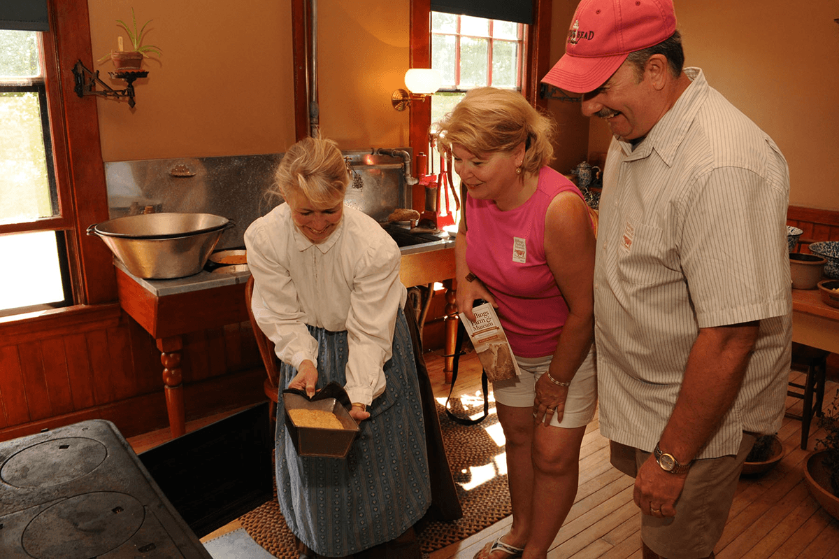 Image of people in the Billings Farm kitchen
