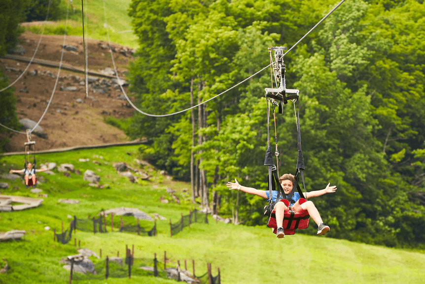 Image of kids on the zipline