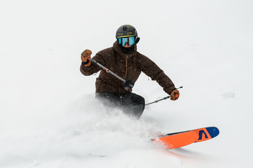 Image of skier in powder