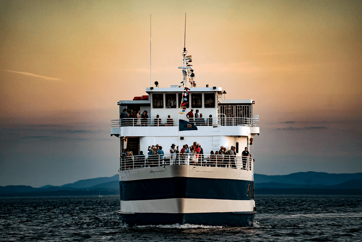 Lake Champlain Shoreline Cruises aboard the Spirit of Ethan Allen