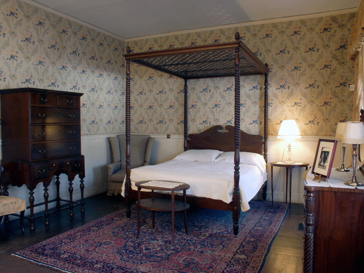 Image of guest bedroom at Hildene, The Lincoln Family Home