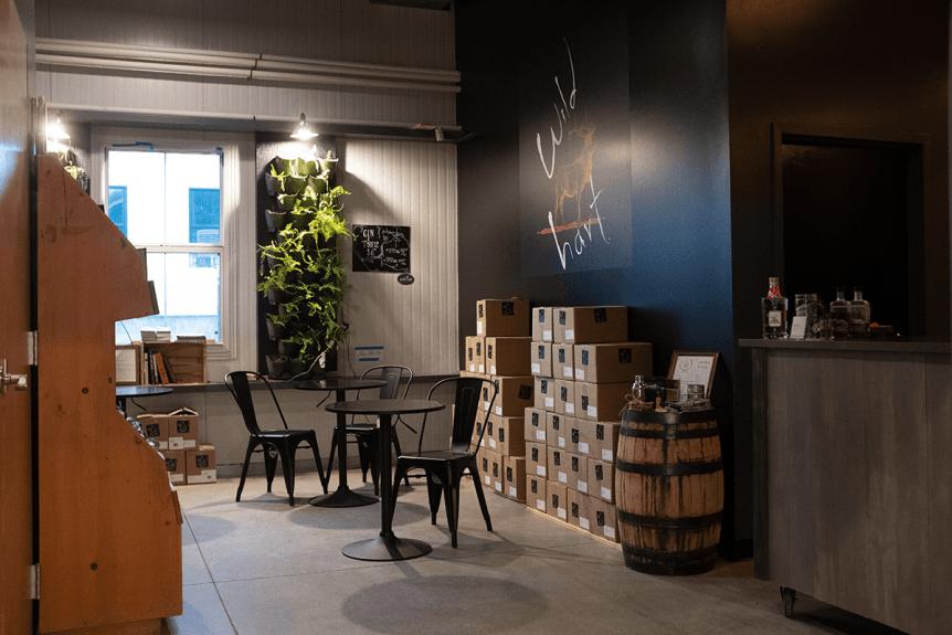 Image of tasting room at Wild Hart Distillery