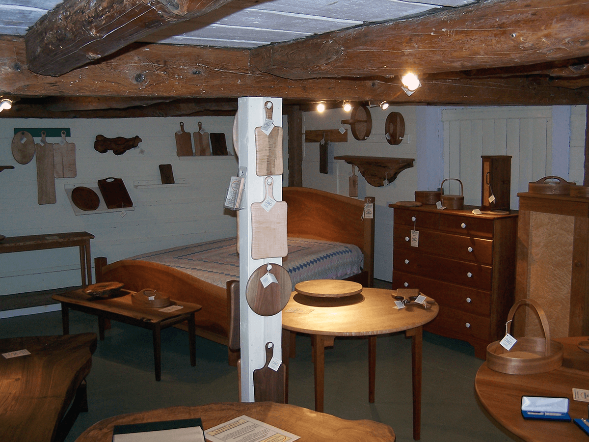 Image of hardwood furniture at Rockledge Farm Woodworks