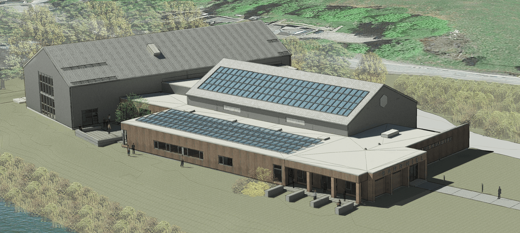 Image of the new distillery at Barr Hill Gin