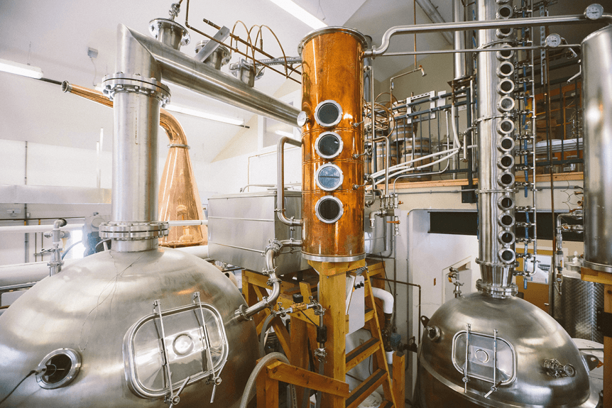Image of a distiller at Barr Hill Gin