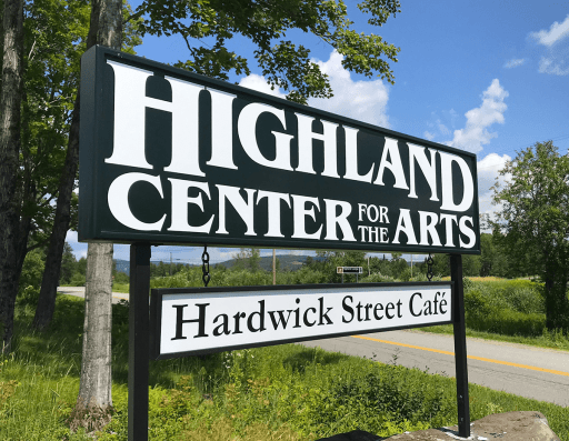 Image of sign for Highland Center for the Arts