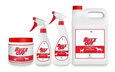 V-Tech BUZZ OFF Fly Repellent Spray and Gel now registered for use on dogs