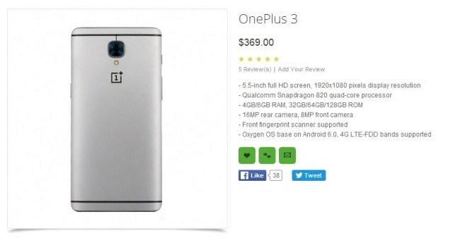 OnePlus 3 Spec