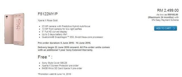 Sony Xperia X Pre Order