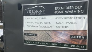 Vermont Home Wash's utility trailer is solar powered!