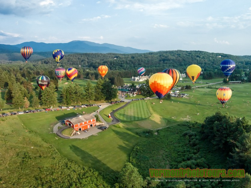 Stoweflake Hot Air Balloon Festival in Stowe, Vermont