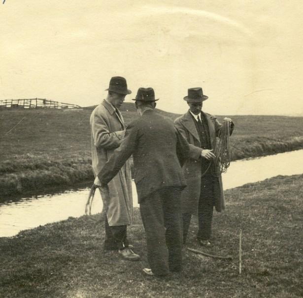 Uitzetten Blijdorp door de heren Arbman, de Vos en de Kaizer (begin jaren 40)