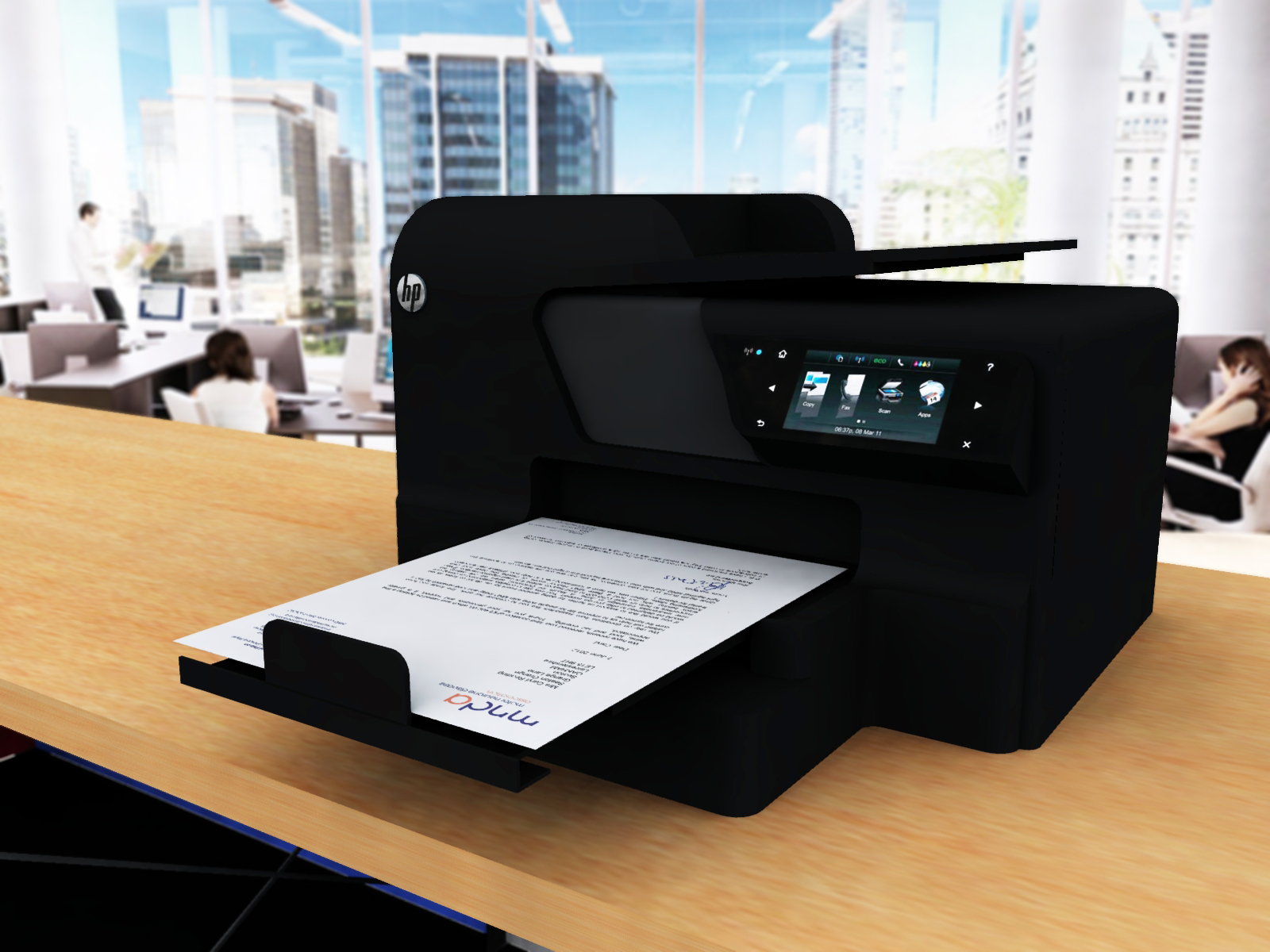 Hp Officejet Pro 8600 All In One Printer Vue 3d Models