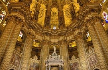 Interior de la Catedral de Málaga -Bert Kaufmann ,CC BY 2.0