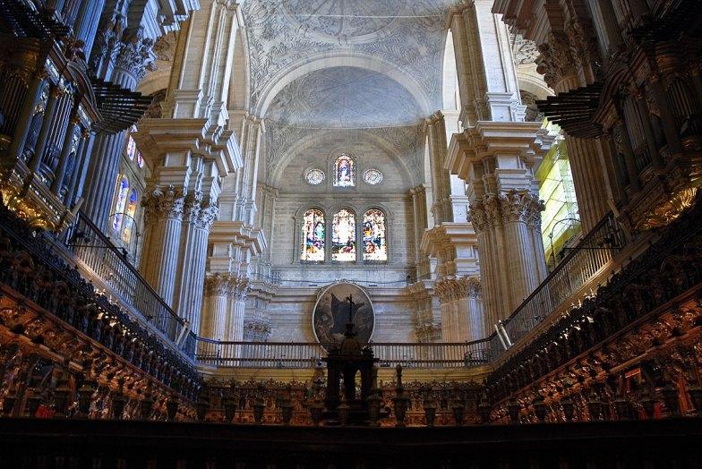Interior de la Catedral de Málaga. Imagen: ©depositphotos.com/marimar8989