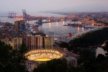 Vista desde el Castillo Gibralfaro. Imagen: ©depositphotos.com/ pabkov