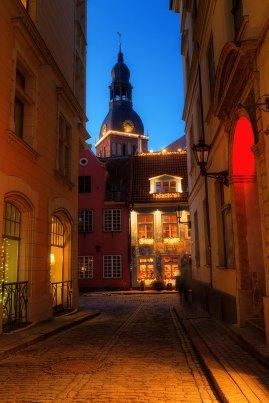 Casco antiguo de Riga, Letonia — Foto depositphotos © Madrabothair