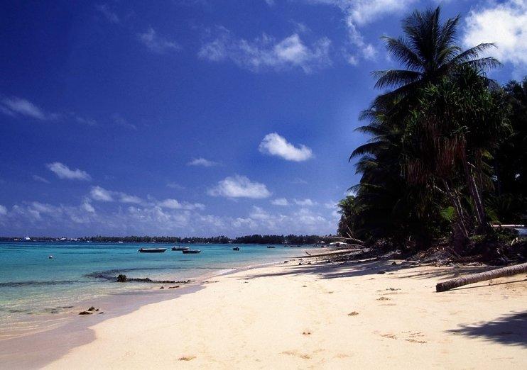 Playa en Funafuti. Imagen: Imagen: Stefan Lins , CC BY 2.0