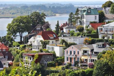 Barrio de Blankenese - Villas junto al Elba