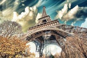 Imagen escénica de la Torre Eiffel, distrito 6