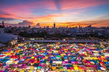 Mercadillo en Bangkok