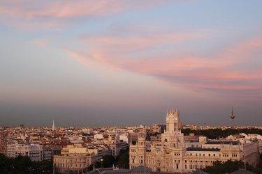Vista de Madrid desde la terraza del Círculo de Bella Artes.