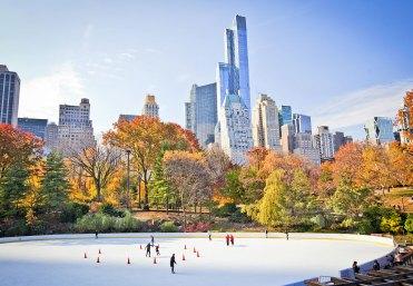 Patinaje sobre hielo en central park