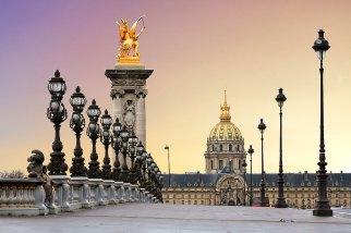 Amanecer. Puente Alexandre III. Les Invalides, Paris