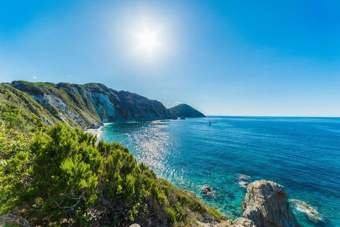 La Playa de Sansone a 5 km de Portoferraio.