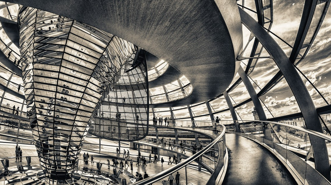 La cúpola del Reichstag de Berlín.