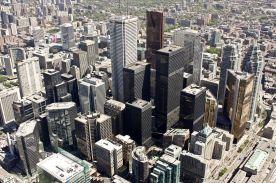 Vista desde el CN Tower, en Toronto.