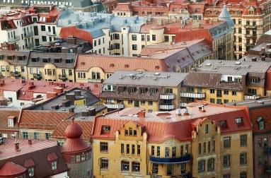 Edificios en el centro historico de Gotemburgo.