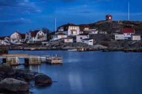 Pueblo de Pescadores, archipiélago de Gotemburgo, Suecia.