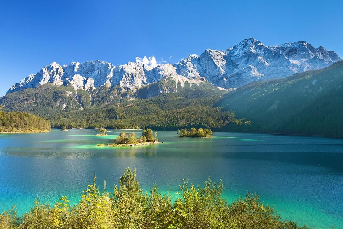 Eibsee y Zugspitze