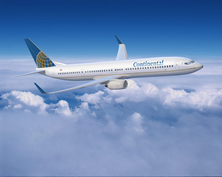 Continental Airlines avion