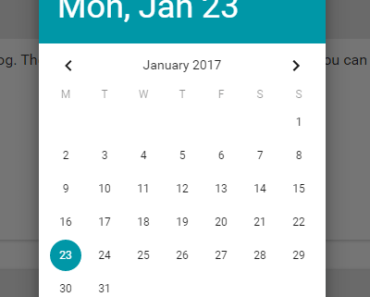 Customisable Vue 2 Material Date Picker