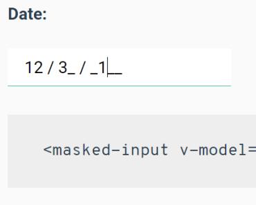 Masked Input Component For Vue.js