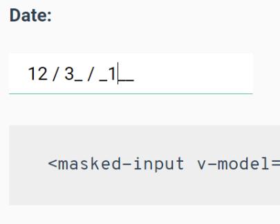 Vue js input mask Components - Vue js Script
