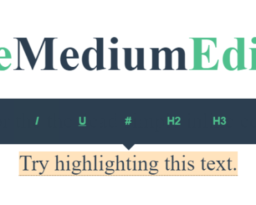 Medium Style Floating Editor For Vue.js