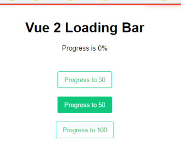 Youtube Like Loading Bar Component For Vue 2