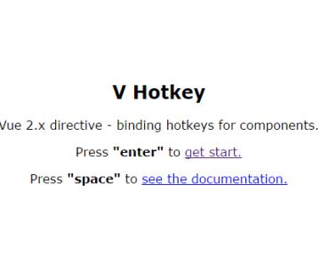 v-hotkey