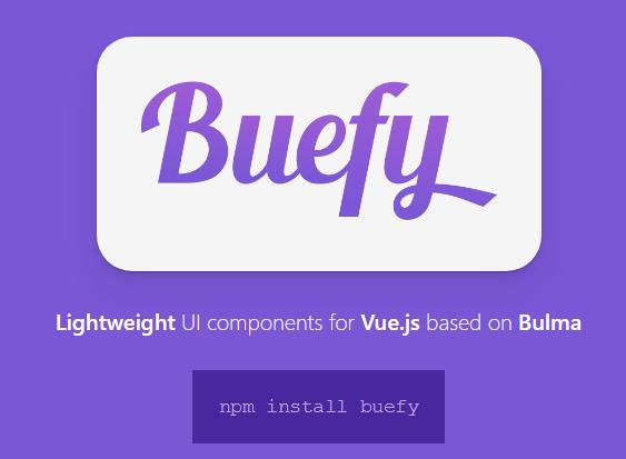 Lightweight UI Components For Vue js - buefy - Vue js Script
