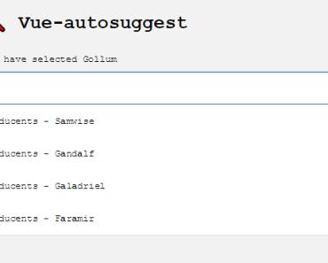 Vue.js Autosuggest Component