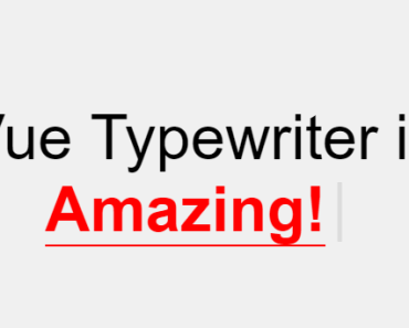 Typewriter-style Typing Animation For Vue.js