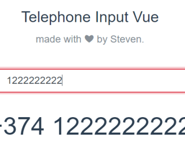 International Telephone Input With Vue