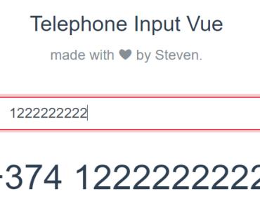International Telephone Input With Vue